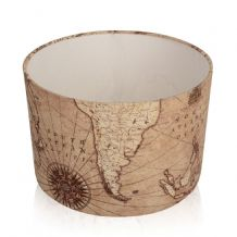 Vintage Brown Old World Map  Lampshade / Ceiling Light Table Lamp